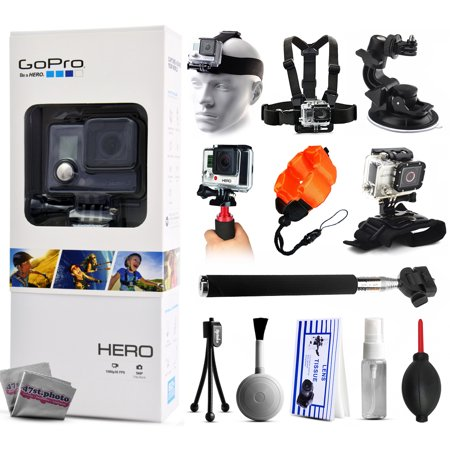 gopro hero action camera chdha 301 with headstrap chest harness mount car suction cup. Black Bedroom Furniture Sets. Home Design Ideas