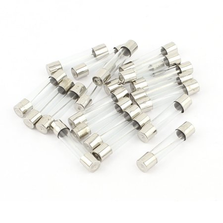 20Pcs 6x30mm Quick Blow Fast Acting Cartridge Glass Tube Fuses 25A 250V