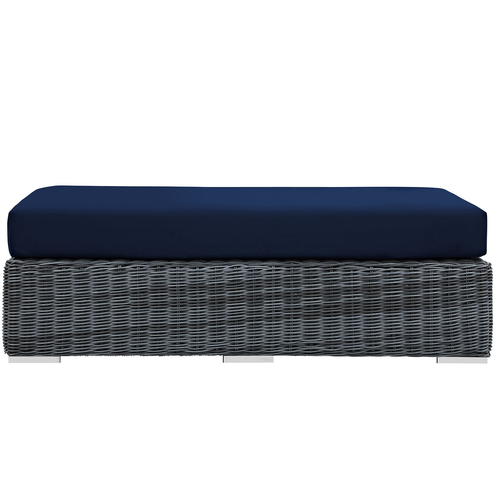 Modway Summon Outdoor Patio Sunbrella Rectangle Ottoman, Multiple Colors