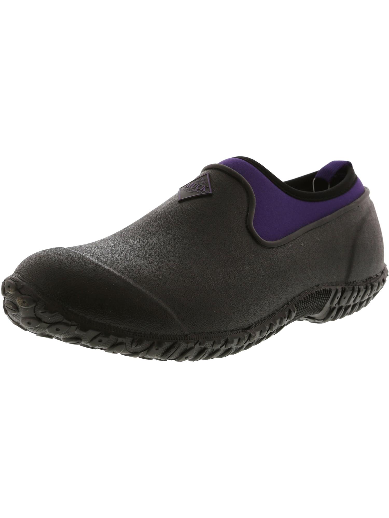 Muck Boot Company Women's Muckster Ii Low Black / Purple Ankle-High Rubber Rain Shoe - 7M