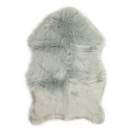 Faux Fur Sheepskin Rug Silver Furry Rugs For Vanity Seats Chairs Cover Plain Shaggy Area Luxury Home Throw Plush Seat Pad Bedroom Kids Rooms