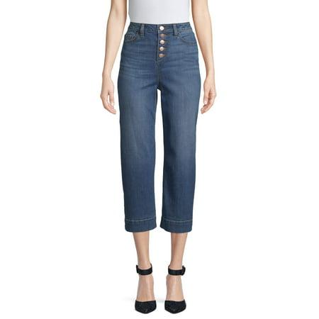 Time and Tru Wide Leg Crop Jean Women's