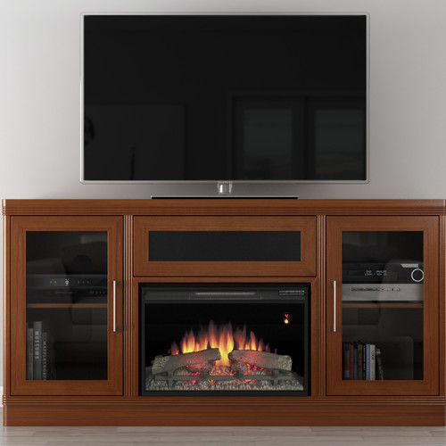 Furnitech Transitional 70'' TV Stand with Fireplace