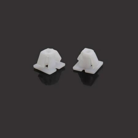 Ktaxon 10x Plastic White Fastener Rivet Clip Retainer