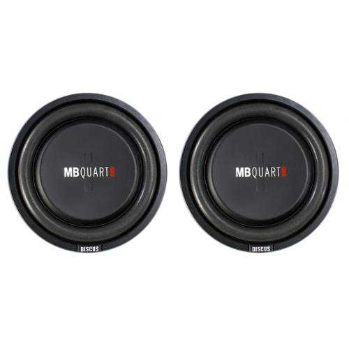 2) MB Quart DS1-254 800 Watt 4 Ohm Shallow Slim Subwoofers Car Truck DVC Subs