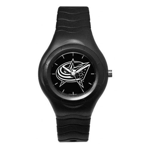 NHL - Columbus Blue Jackets Shadow Black Sports Watch with White Logo