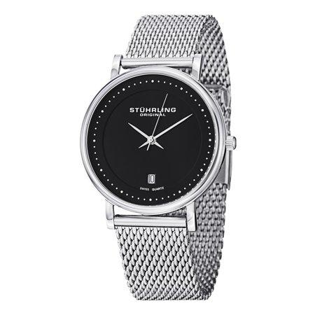 Stuhrling Original  Mens Casatorra Elite Swiss Quartz Bracelet Watch