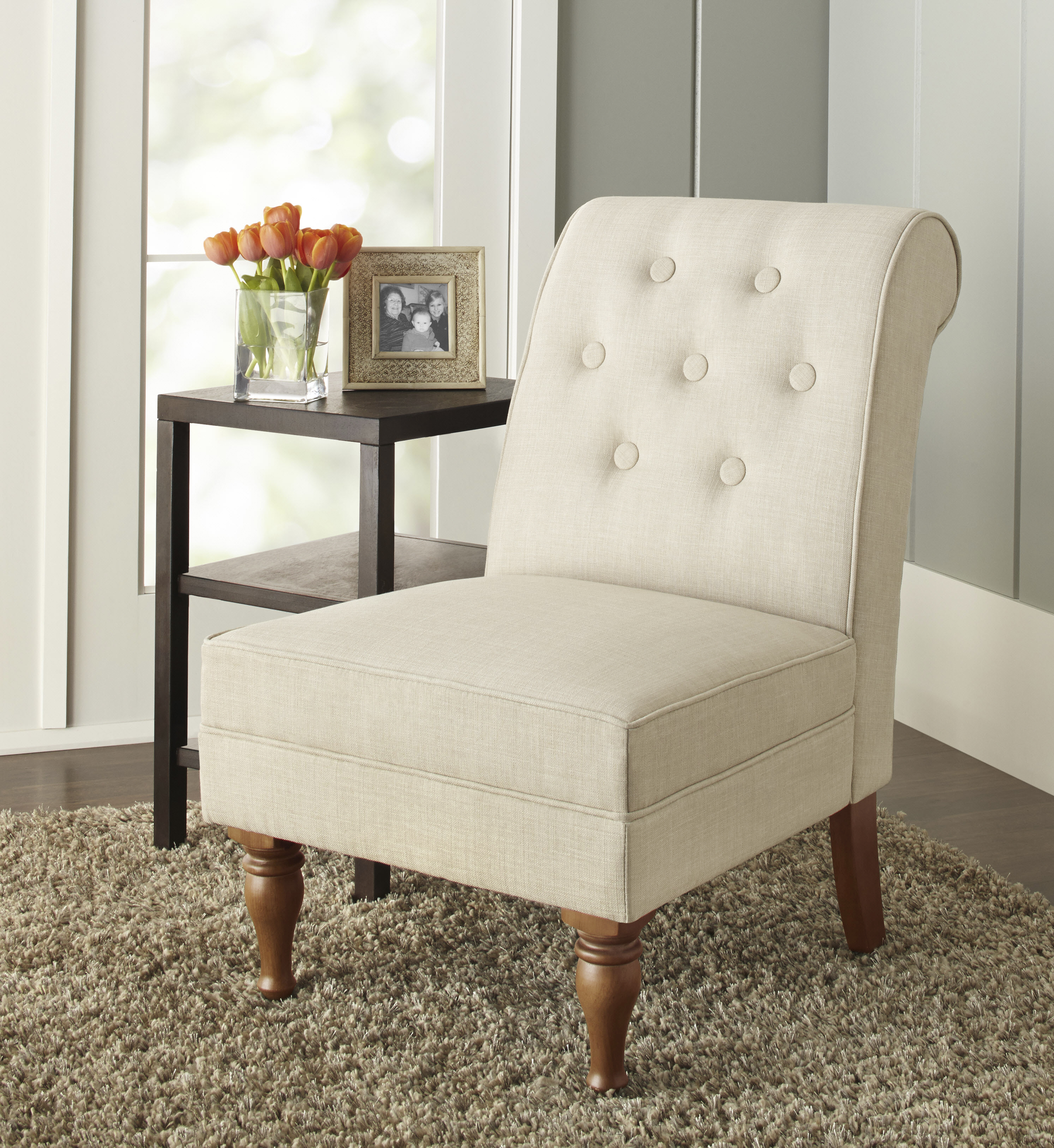 Better Homes & Gardens Colette Tufted Accent Chair, Multiple Colors