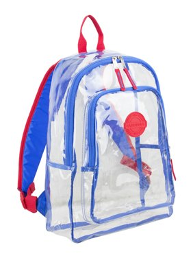 Eastsport Multi-Purpose Clear Backpack with Front Pocket, Adjustable Straps