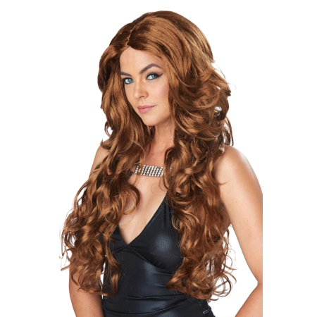 Celebrity Glam Wig (Light Brown) - Light Brown Wigs