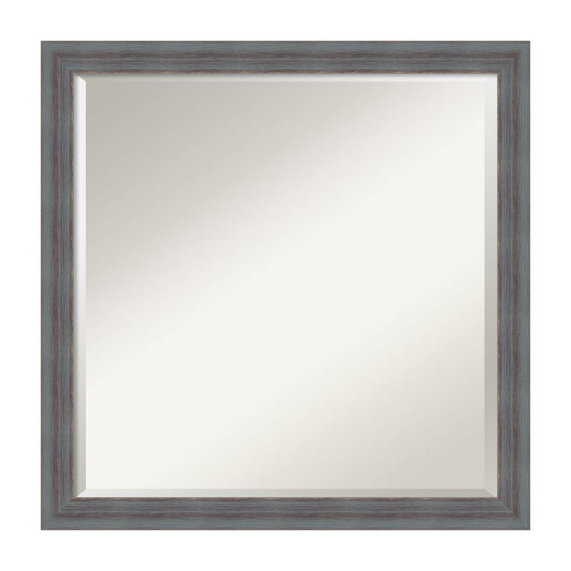 Dixie Grey Rustic Square Mirror: 22 x 22-Inch Wall Mirror by Amanti Art