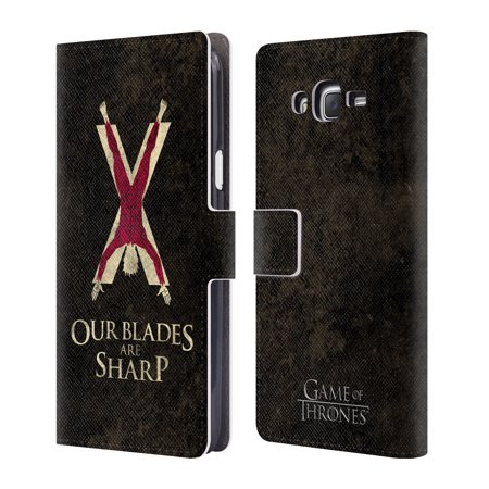 OFFICIAL HBO GAME OF THRONES DARK DISTRESSED SIGILS LEATHER BOOK WALLET CASE COVER FOR SAMSUNG PHONES - Stannis Baratheon Costume