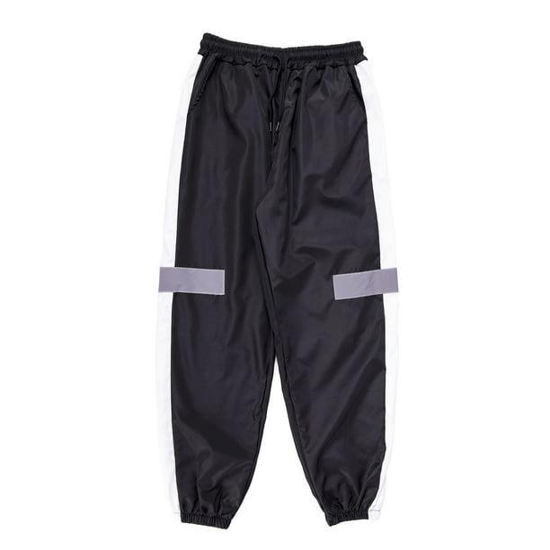 SAYFUT - Big and Tall Mens Stripe Track Pants Skinny Stretch