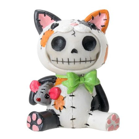 Furrybones Calico Mao Mao Skeleton in Cat Costume Halloween Figurine - Halloween Figurine