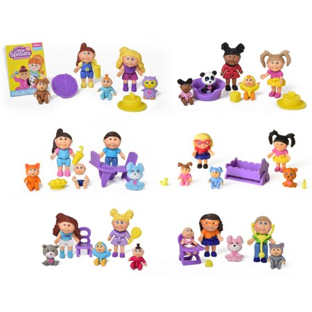 Cabbage Patch Costume (Cabbage Patch Kids Little Sprouts 8 Pack Friends Set (Styles May)