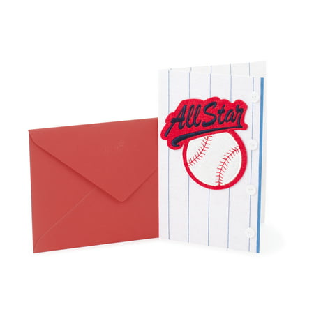 Hallmark Signature Birthday Greeting Card Baseball All Star