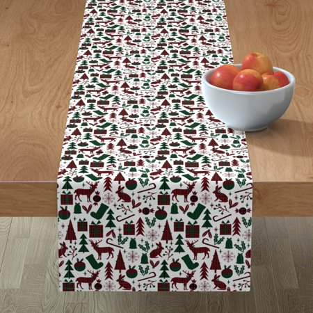 Image of Table Runner Buffalo Plaid Green Plaid Red Plaid Christmas Plaid Cotton Sateen