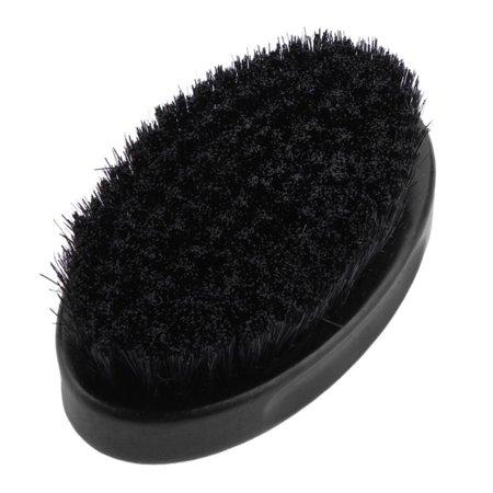 Men Bristle Beard Brush Oval Shape Wood Handle Mustache Comb Shaving Brush Face Cleaning Tool