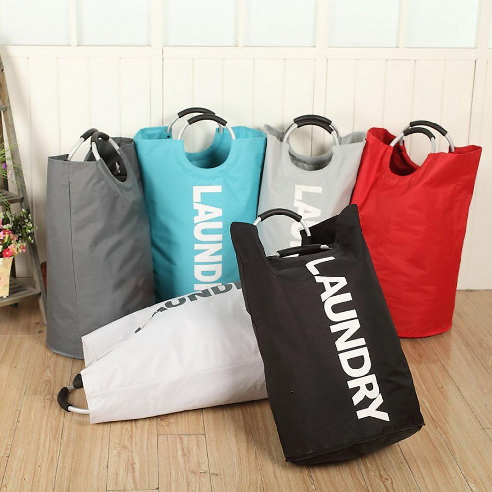 Zimtown Large Laundry Bag, Foldable Laundry Basket, Collapisable Laundry Hamper, Folding Washing Storage Bin Black/Gray