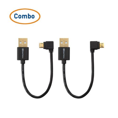 Cable Matters Combo-Pack Right Angle USB Cable for TV Stick and Power Bank 6 Inches - Compatible with Roku USB Port and ChromeCast USB Port