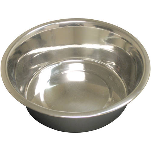 QT Dog, Heavy Standard Stainless Steel Food Bowl, 1 pt + Dogs Bowls en VeoyCompro.net