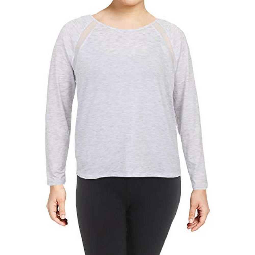 Ideology Womens Plus Yoga Fitness Pullover Top