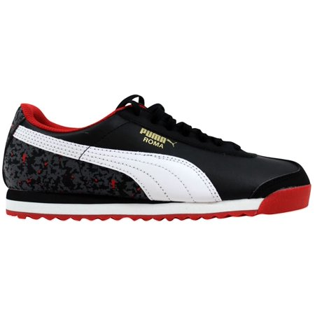 PUMA - Puma Grade-School Roma Basic Wcamo Jr Black White-High Risk Red  359730 02 - Walmart.com aca72ab8f