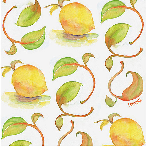 "Trademark Fine Art ""Lemons"" Canvas Art by Wendra"