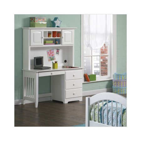atlantic furniture windsor desk with hutch in white