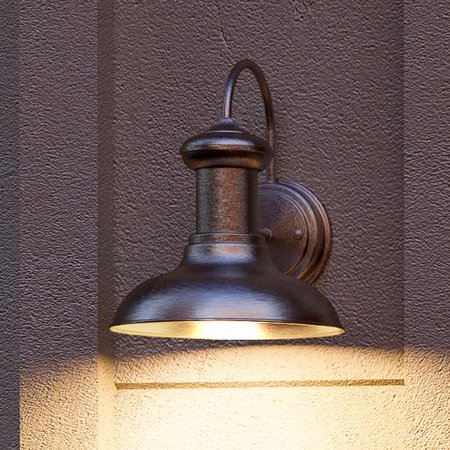 Urban Ambiance Luxury Urban Industrial Outdoor Wall Light, Size: 10