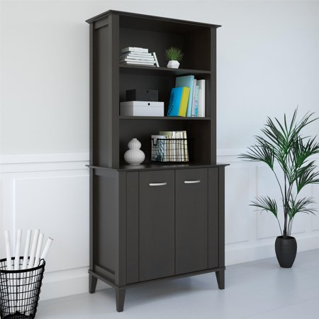 Ameriwood Home Quinn Bookcase with Doors, Espresso