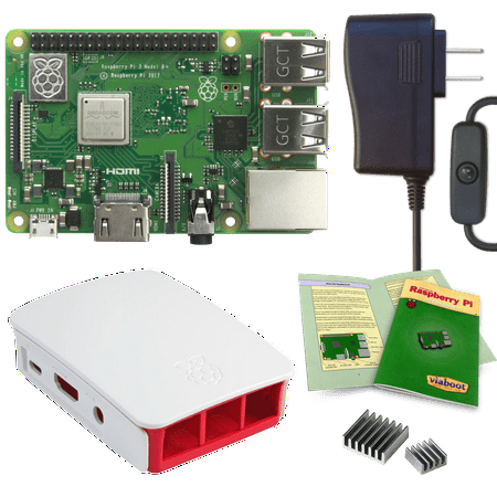 Viaboot Raspberry Pi 3 B+ Power Kit with Official Red/White
