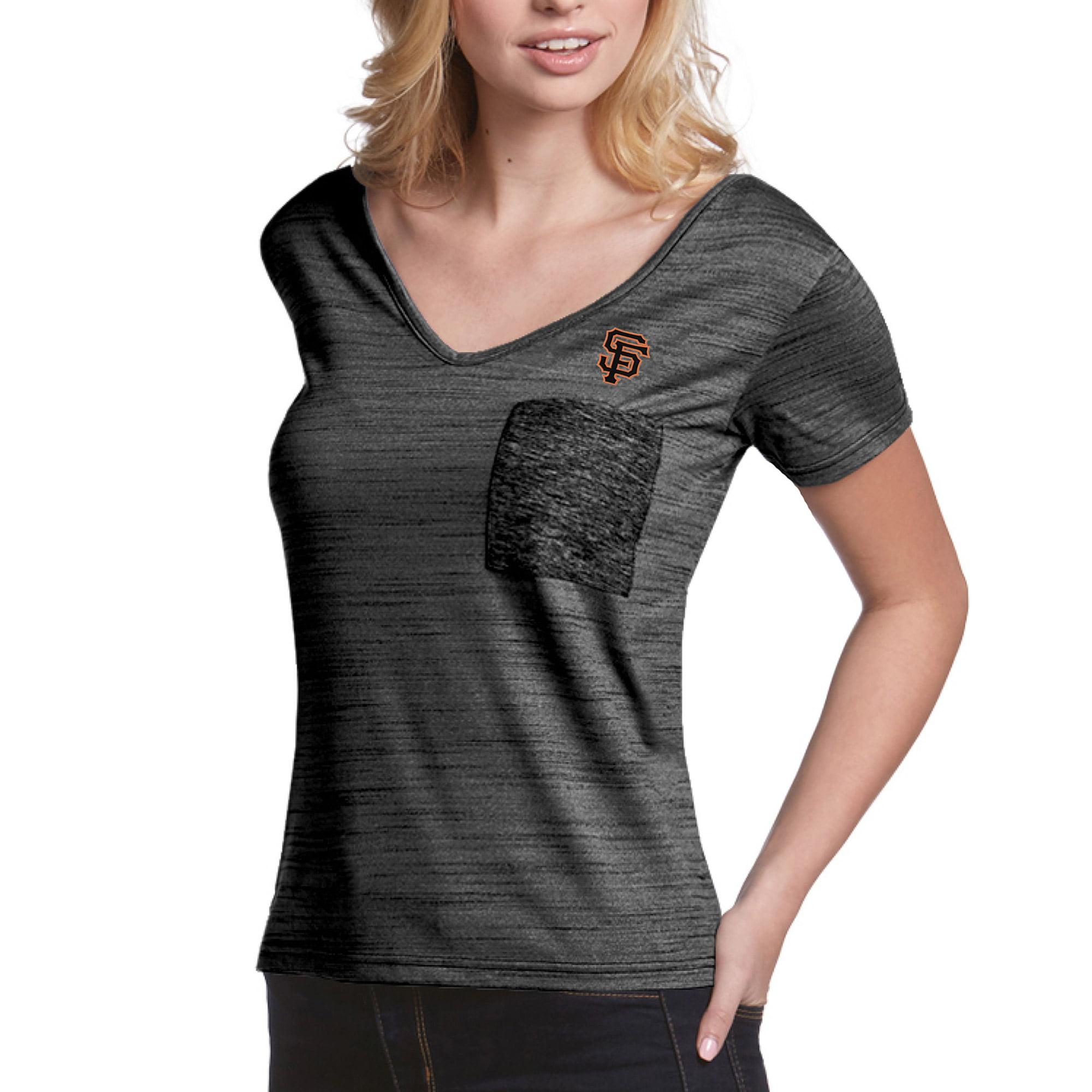 San Francisco Giants Antigua Women's Form Pocket T-Shirt - Black