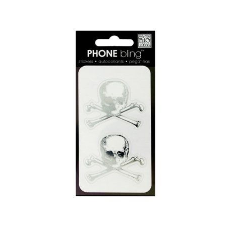 Skull and Crossbones Phone Bling Removable Stickers - Skull And Crossbones Stickers