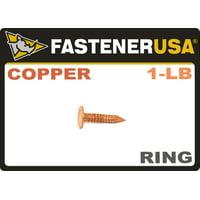"""3/4"""" x 11-GAUGE RING COPPER ROOFING/SLATING NAILS 1lb"""