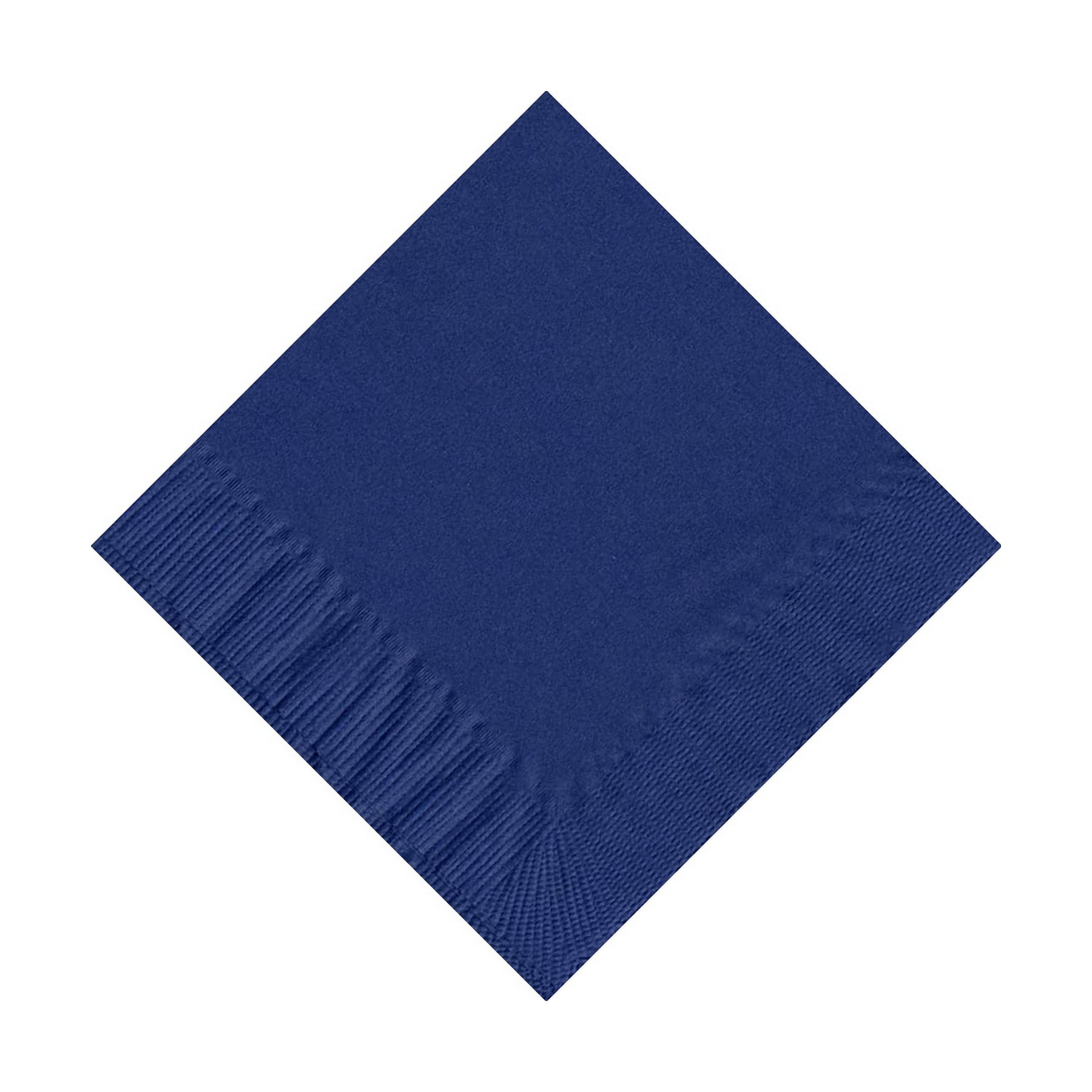 600 (12 Pks of 50) 2 Ply Plain Solid Colors Beverage Cocktail Napkins Paper Navy Blue by CREATIVE CONVERTING