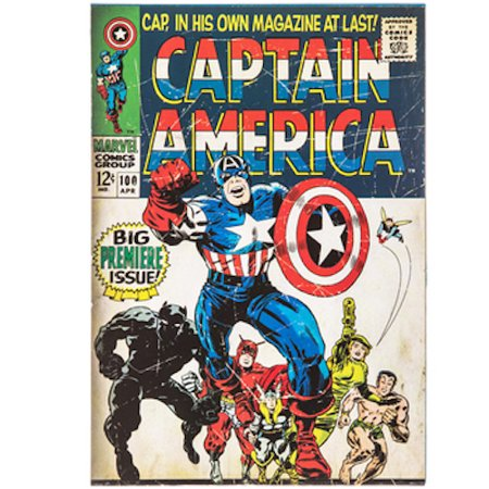 Captain America Decorations (Captain America Comic Wood Wall Art Home Decoration Theater Media Room Man)