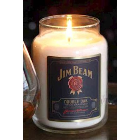 Double Candle - DOUBLE OAK JIM BEAM 26 oz Scented Jar Candle by Candleberry