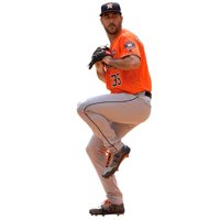 Justin Verlander Houston Astros Fathead Life Size Removable Wall Decal - No Size