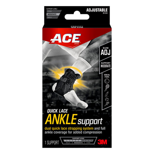 ACE Brand Quick Lace Ankle Support, Adjustable
