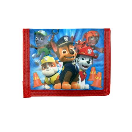 (Kids Paw Patrol Bi-Fold Wallet Blue Red)