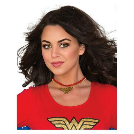 DC Comics Superhero Wonder Woman Choker Neckpiece Necklace Costume Accessory