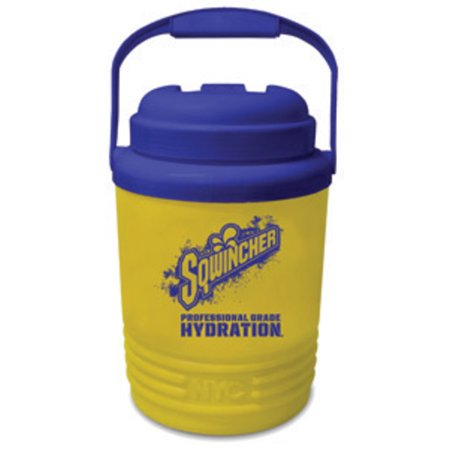 (Sqwincher 1 Gallon Yellow And Blue Cooler With Screw On Top With Handle)