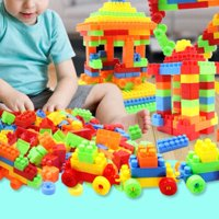 EOTVIA Kid Early Learning Toy, Educational Plastic Toys,187pcs Child Kid Early Educational Colorful Plastic Interesting Building Block Intelligent Toy