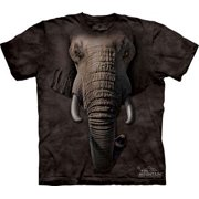 Elephant Face Adult T-Shirt by The Mountain - 10-3260
