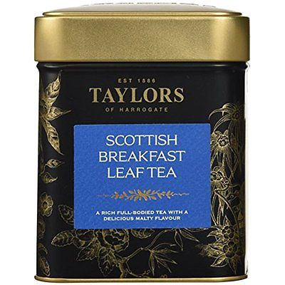 Image of Taylors of Harrogate Scottish Breakfast Leaf Tea Tin, 4.4 Oz