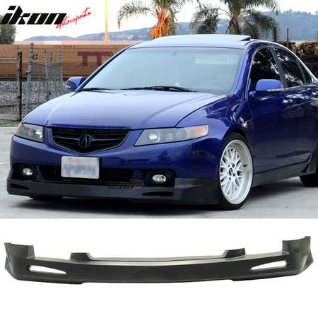 Fits Acura TSX Sedan JDM Urethane Front Bumper Lip Spoiler - Acura tsx bumper