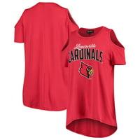 Louisville Cardinals Women's Gameday Cold Shoulder Flowy Top - Red