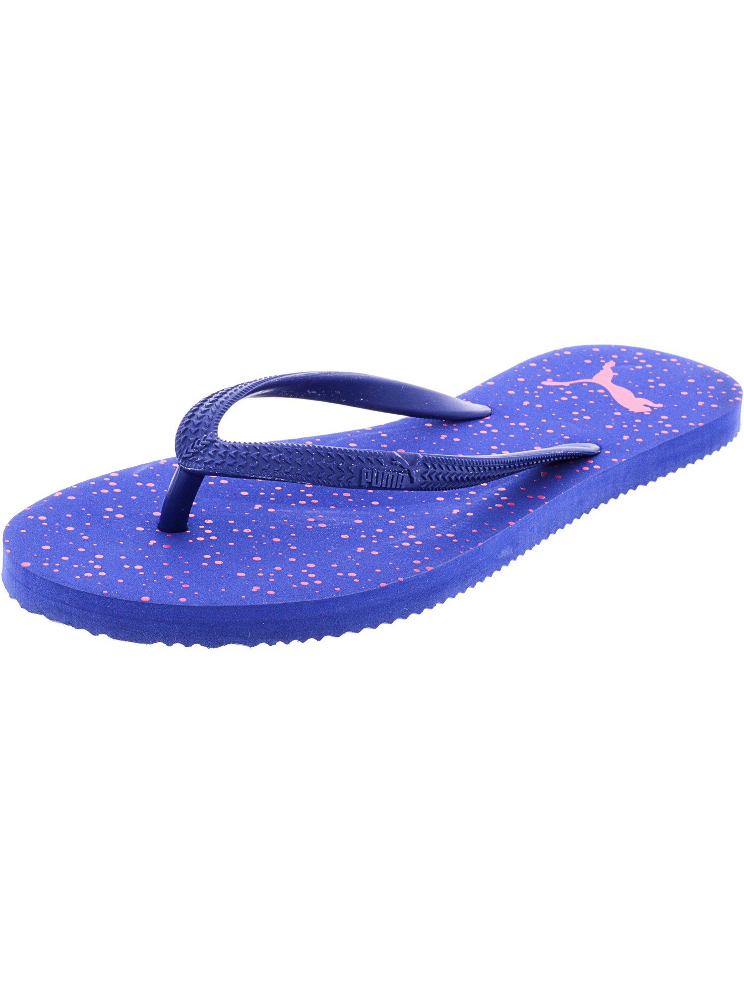 febb9da2cd6a Puma Women s First Flip Dots Mazarine Blue   Fandango Pink Sandal - 6.5M