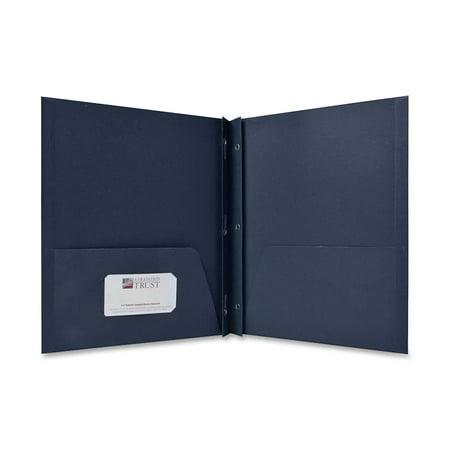 Sparco, SPR71443, 2-Pocket Folders with Fasteners, 25 / Box, Dark Blue